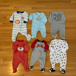 Other - Set of 6 Sleepers 3 Months. Great Condition.